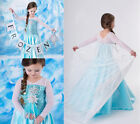 Frozen Disney Princess Girl Queen Elsa Cosplay Costume Party Fancy Dress