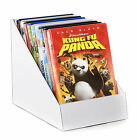 Black or white cardboard counter top display stand - books DVD's greeting cards