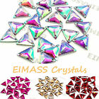 Triangle Shape EIMASS® Sew or Glue on Resin Crystals, Flat Back Gems for Costume
