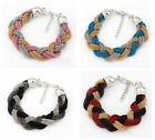 Chic Multi Tone Braided Snake Chain Bracelet Bangle Wowen Link Bracelet JW031