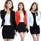 Office Lady Candy Color Short Blazer Jacket Slim Suit Coat Women Hot Flower Tops