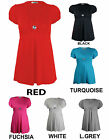 NEW LADIES PLUS SIZE SHORT SLEEVE DIAMOND BROOCH TIE BACK DRESS WOMENS TOP 14-28
