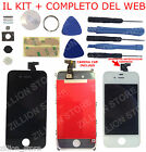 Vetro Touch screen + Display LCD originale assemblato per iPhone 4 NERO AAA+