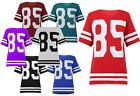 NEW LADIES 85 GRAPHIC PRINT FOOTBALL VARSITY WOMENS T-SHORTS TOP SIZE 8-16