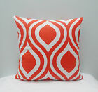 Emily Slub Tangelo /Orange Throw Pillow Cover PillowCase / Sham/ Toss Pillowcase