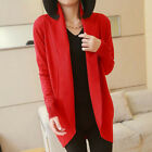 Ladies Womens Long Sleeve Knit Open Front Cardigan Top Jacket Jumper  Sweaters