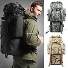 80L Waterproof Travel Bag Internal Frame Camping Hiking Backpack  with Rain Cove