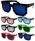 Mens Womans Pixelated Wayfarer Sunglasses In Various Colours Retro UV400 BNWT