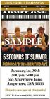 "5 SOS *5 Seconds of Summer*- Invitations- Customized 4 U! WE Print! 3""x6"""