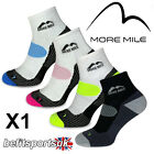 MORE MILE MENS WOMENS LADIES LONDON ANKLE RUNNING SPORTS CUSHIONED SOCKS 1