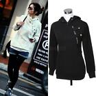 Korean Womens Hooded Coat Pullover Casual Lady Blouse Tops Jacket Size S M L XL