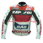 Mens HONDA GAS REPSOL Leather Motorcycle Motorbike Racing Armour Biker Jacket