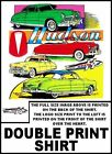 FABULOUS CLASSIC HUDSON HORNET CARS DOUBLE PRINT T-SHIRT  TBH93TH171