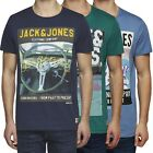 9812 Jack & Jones Floor Tee Herren Slim-Fit T-Shirt Shirts Neu