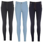 New Ladies Womens Skinny Fit Coloured Stretchy Jeans Jeggings Trousers Size 8-14