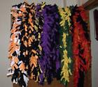 "NEW Handmade Boa Scarves scarf fringe fleece Fall & halloween colors aprx 69"" in"