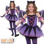 Ballerina Bat + Wings Age 3-10 Girls Halloween Fancy Dress Childs Kids Costume