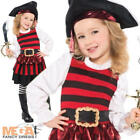 Pirate Girl + Hat Ages 3-6 Fancy Dress Pirates Halloween Kids Book Child Costume