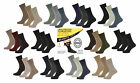 6 Pairs of Mens Plain 99% Cotton STAY-UP Diabetic Everyday Socks, UK Size 6-11