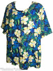 Plus Size Top Floral Print Short Sleeve NWT 18 20 26 30 34 38 42