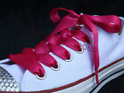 Pink Satin Shoelaces with Aglets Converse All Star Lo's & Hi Tops Girls, Women's