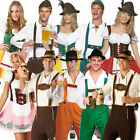 New Adult Ladies Mens Oktoberfest Bavarian Beer German Wench Fancy Dress Costume