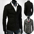 Big Sale! Trendy Fashion Men Warm Overcoat Outwear Slim Fit Jackets Trench Coats