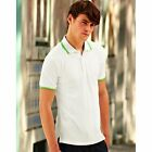 Fruit of the Loom Mens Short Tipped Sleeved 100% Cotton Polo Shirt/Top S-3XL