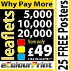 Colour Printing; leaflets / flyers A4, A5, A6 or DLon 150gms Gloss Artpaper
