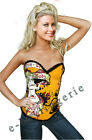 Posh Yellow Pin-Up Devil Corset New Year Party Costume