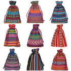 10 Nice 10x14cm Luxury Bunt Tribal Tribe Drawstring Jewelry Bags Pouches M3268