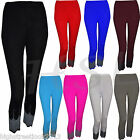 Ladies Cropped Viscose Fitted Leggings 3/4 Sequin Stretched Length HSL Sizes8-18