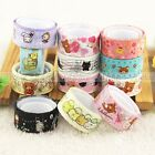 New Cute Lace Design Animals DIY Washi Tape Sticky Adhesive Sticker Decorative