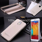For Samsung Galaxy Note 3 III Acrylic Back & Metal Bumper Frame Hard Cover Case