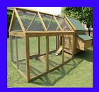 BEAUMONT SINGLE AND RUN LARGE DELUXE CHICKEN COOP HEN HOUSE RABBIT HUTCH NEST