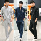 Man's Sport Casual Suit Long-sleeved Cotton Stretch Slim Jacket and Pants UN0016