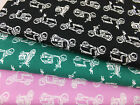 SB Scooters 100% Cotton Fabric vespa moped boys per metre