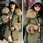 Hot Ladies Women Faux Fur Jacket 6 Size Warm Winter Zipper Parka Coat Outerwear