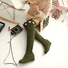 New Sweet Fashion Womens hidden wedges Heel over knee high Lace-up Winter boots
