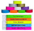 Custom Printed Tyvek Wristbands Event Security Admission Wristband - Orange