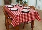 Country Style New Table Cloth - Red Gingham- Tablecloth Assort. sizes New cotton