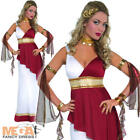 Roman Empress Ladies Fancy Dress Greek Grecian Toga Womens Costume Adult Outfit