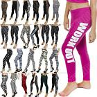 New Plain Aztec Work Out Leopard Homies Dope Like A Boss Print Leggings S M L XL