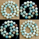 Natural Multi Colored Amazonite Smooth Matte Faceted Gemstone Round Loose Beads