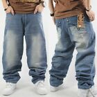Hip-Hop Mens Jeans Pants Ecko Baggy Loose Denim Streetwear Trousers HipHop #PJ1