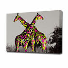 EZ0910 LARGE FUNKY GIRAFFE CANVAS PRINT