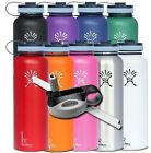 Hydro Flask 40 oz Wide Mouth Insulated Stainless Steel Water Bottle w/ Straw Set