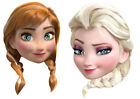 Disney Frozen Anna & Elsa Fun Face Masks, Single or Pack of 6 Mixed !!!!!!