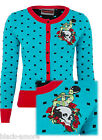 BLUE CARDIGAN SKULL ROSE FRANKENSLUT HALLOWEEN SWEATER 50's ROCKABILLY RETRO
