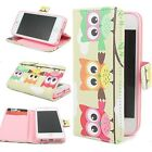New Owl Hybrid Wallet Leather Card Stand Flip Cover Case for iPhone 5S/6/6S Plus